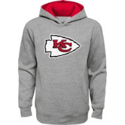 NFL Team Apparel Youth Kansas City Chiefs Prime Grey Pullover Hoodie