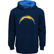 NFL Team Apparel Youth Los Angeles Chargers Prime Navy Pullover Hoodie