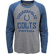 NFL Team Apparel Youth Indianapolis Colts Gridiron Grey Long Sleeve Shirt