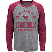 NFL Team Apparel Youth Arizona Cardinals Gridiron Grey Long Sleeve Shirt