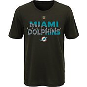 NFL Team Apparel Youth Miami Dolphins Flux Ultra Black T-Shirt