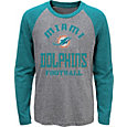 NFL Team Apparel Youth Miami Dolphins Gridiron Grey Long Sleeve Shirt