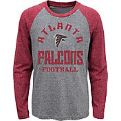 NFL Team Apparel Youth Atlanta Falcons Gridiron Grey Long Sleeve Shirt