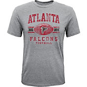 NFL Team Apparel Youth Atlanta Falcons Pride Tri-Blend Grey T-Shirt
