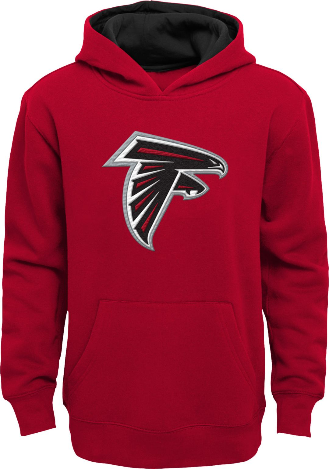newest ff6b0 01e4a NFL Team Apparel Youth Atlanta Falcons Prime Red Pullover Hoodie