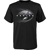 NFL Team Apparel Youth Philadelphia Eagles Performance Black T-Shirt