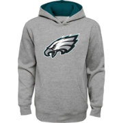 NFL Team Apparel Youth Philadelphia Eagles Prime Grey Pullover Hoodie