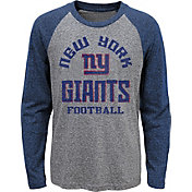 NFL Team Apparel Youth New York Giants Gridiron Grey Long Sleeve Shirt