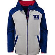 NFL Team Apparel Youth New York Giants Hi-Tech Full-Zip Hoodie