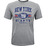 NFL Team Apparel Youth New York Giants Pride Tri-Blend Grey T-Shirt