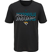 NFL Team Apparel Youth Jacksonville Jaguars Flux Ultra Black T-Shirt