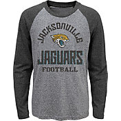 NFL Team Apparel Youth Jacksonville Jaguars Gridiron Grey Long Sleeve Shirt