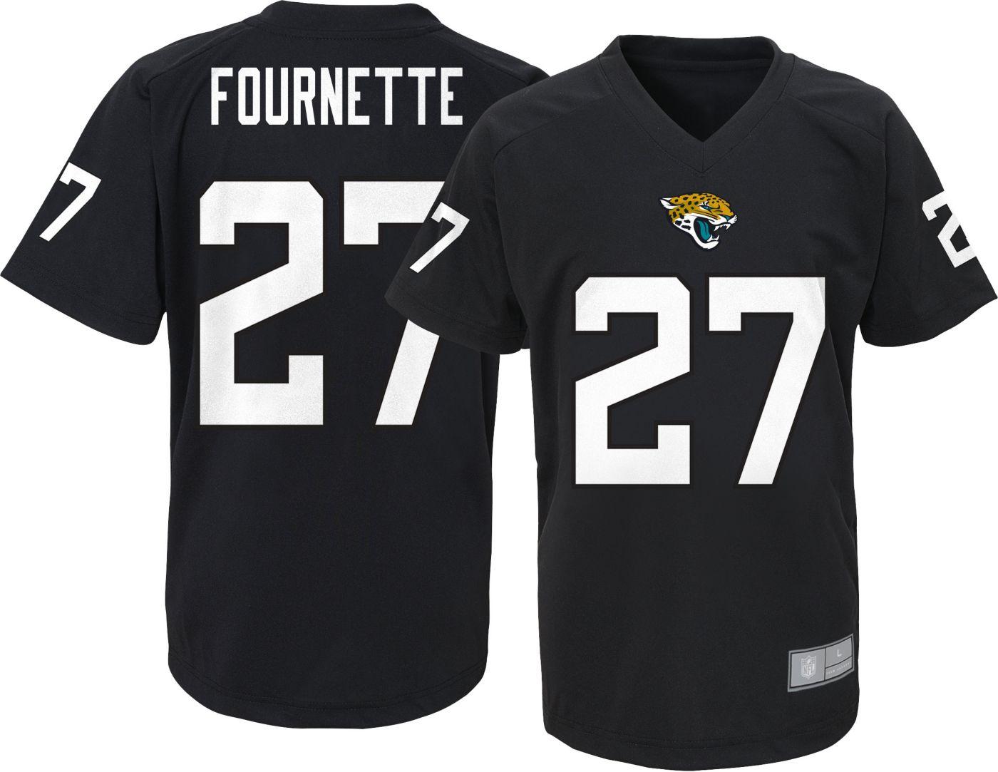 NFL Team Apparel Youth Jacksonville Jaguars Leonard Fournette #27 Black Performance T-Shirt