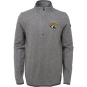 NFL Team Apparel Youth Jacksonville Jaguars Motion Grey Quarter-Zip Fleece Pullover