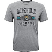 NFL Team Apparel Youth Jacksonville Jaguars Pride Tri-Blend Grey T-Shirt