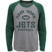 NFL Team Apparel Youth New York Jets Gridiron Grey Long Sleeve Shirt