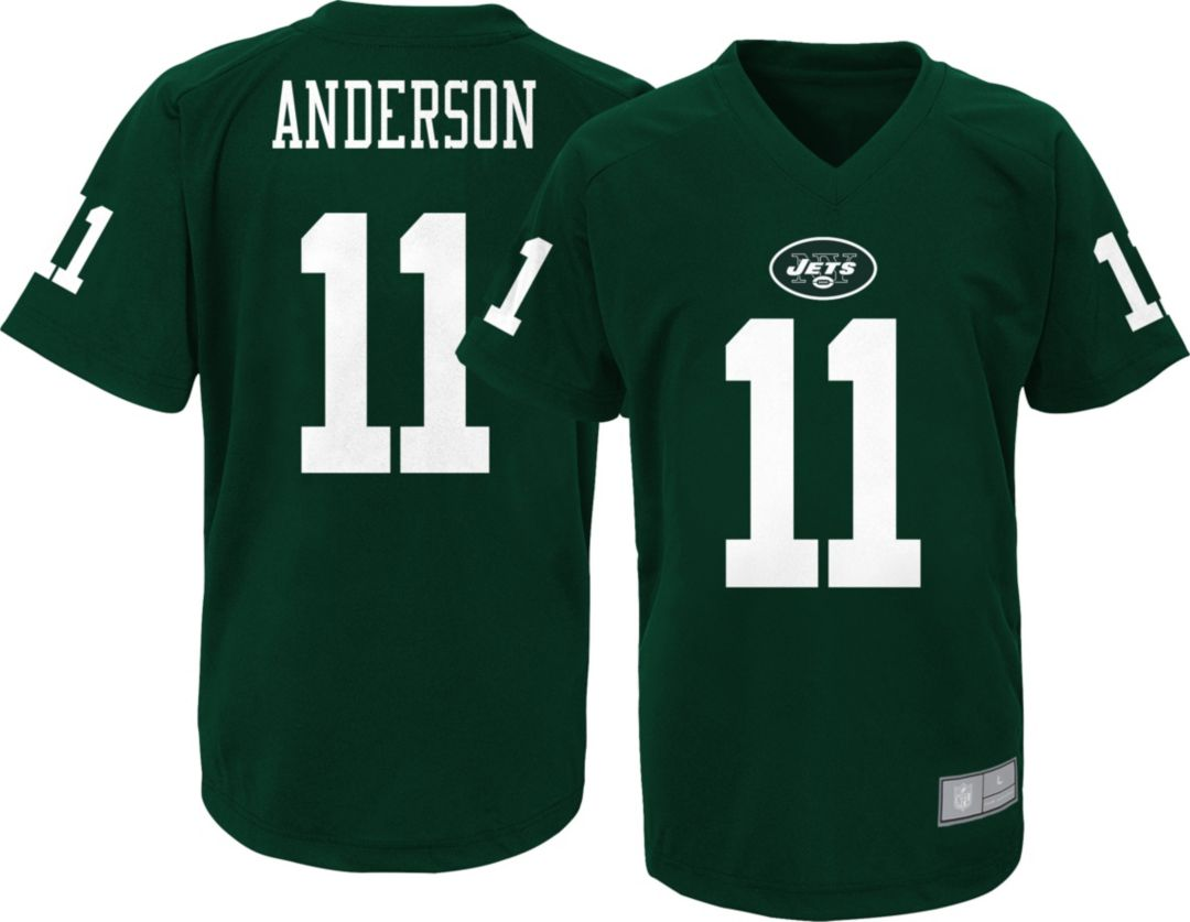 super popular 08636 25e39 NFL Team Apparel Youth New York Jets Robby Anderson #11 Green Performance  T-Shirt