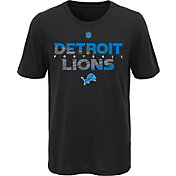 NFL Team Apparel Youth Detroit Lions Flux Ultra Black T-Shirt