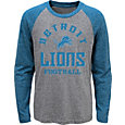 NFL Team Apparel Youth Detroit Lions Gridiron Grey Long Sleeve Shirt
