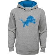 new concept e8d91 f9e55 NFL Team Apparel Youth Detroit Lions Prime Grey Pullover Hoodie