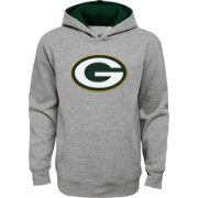NFL Team Apparel Youth Green Bay Packers Prime Grey Pullover Hoodie