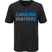 NFL Team Apparel Youth Carolina Panthers Flux Ultra Black T-Shirt