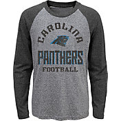 NFL Team Apparel Youth Carolina Panthers Gridiron Grey Long Sleeve Shirt
