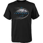 NFL Team Apparel Youth Carolina Panthers Performance Black T-Shirt