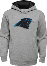 low priced 1bef2 7faef NFL Team Apparel Youth Carolina Panthers Prime Grey Pullover Hoodie
