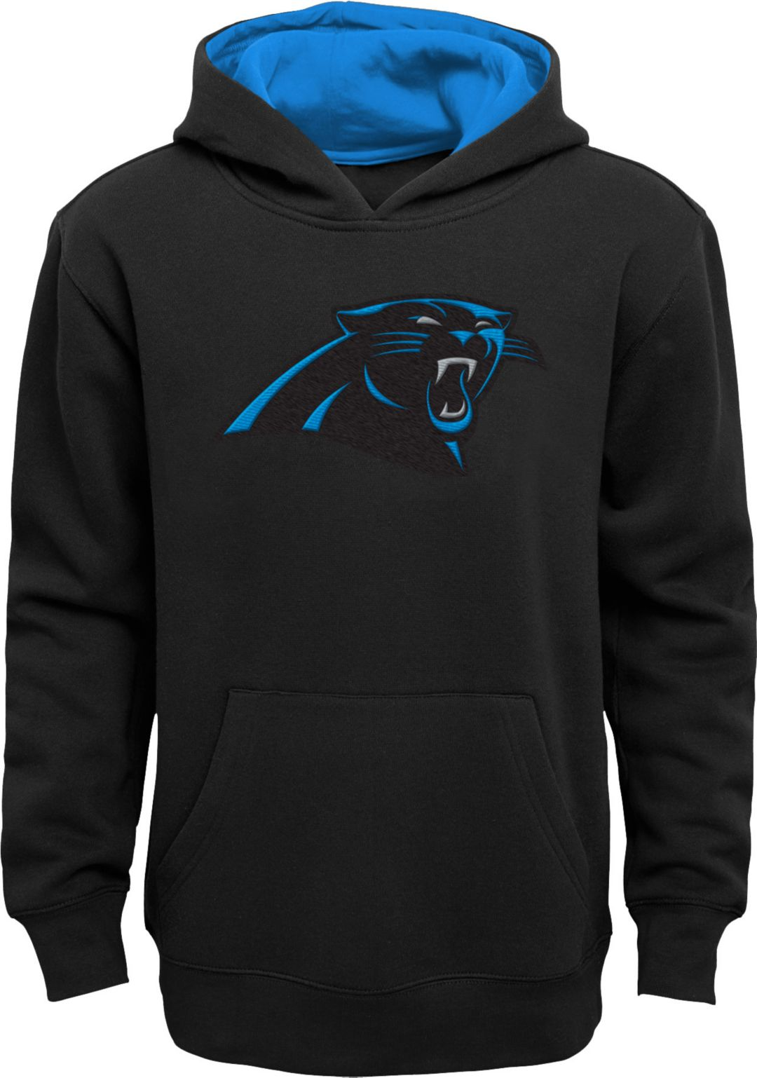 100% authentic cc0e7 b909d NFL Team Apparel Youth Carolina Panthers Prime Black Pullover Hoodie