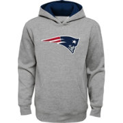 NFL Team Apparel Youth New England Patriots Prime Grey Pullover Hoodie