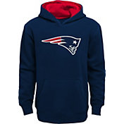 NFL Team Apparel Youth New England Patriots Prime Navy Pullover Hoodie