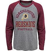 NFL Team Apparel Youth Washington Redskins Gridiron Grey Long Sleeve Shirt