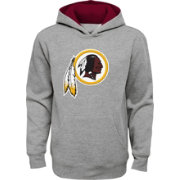 NFL Team Apparel Youth Washington Redskins Prime Grey Pullover Hoodie