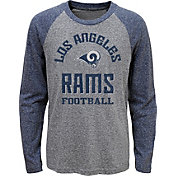 NFL Team Apparel Youth Los Angeles Rams Gridiron Grey Long Sleeve Shirt