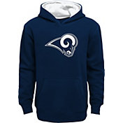 Nike Youth Los Angeles Rams Prime Navy Pullover Hoodie