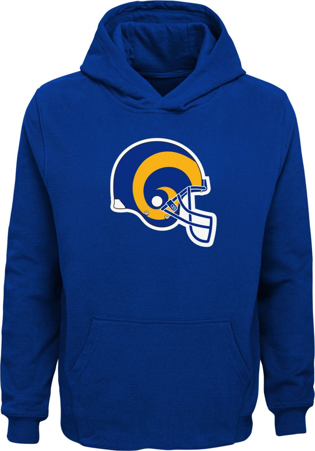 info for 6f868 672b2 NFL Team Apparel Youth Los Angeles Rams Throwback Logo Royal Hoodie