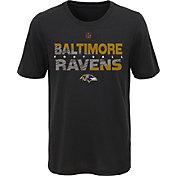 NFL Team Apparel Youth Baltimore Ravens Flux Ultra Black T-Shirt