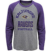 NFL Team Apparel Youth Baltimore Ravens Gridiron Grey Long Sleeve Shirt