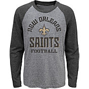 NFL Team Apparel Youth New Orleans Saints Gridiron Grey Long Sleeve Shirt