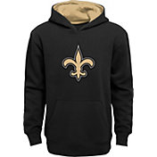 NFL Team Apparel Youth New Orleans Saints Prime Black Pullover Hoodie