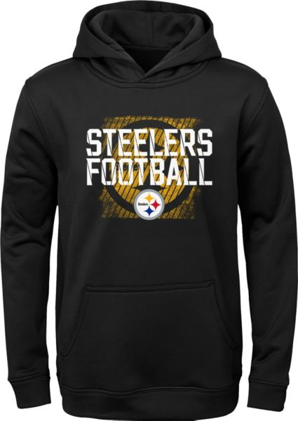 NFL Team Apparel Youth Pittsburgh Steelers Attitude Pullover Hoodie ... c591831bc