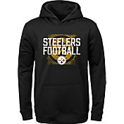 NFL Team Apparel Youth Pittsburgh Steelers Attitude Pullover Hoodie
