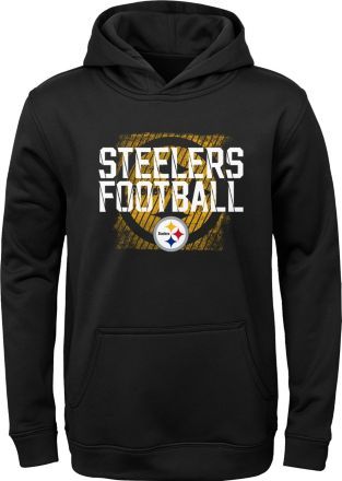 NFL Team Apparel Youth Pittsburgh Steelers Attitude Pullover Hoodie 6b589964d