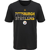 NFL Team Apparel Youth Pittsburgh Steelers Flux Ultra Black T-Shirt