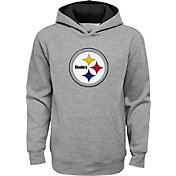 NFL Team Apparel Youth Pittsburgh Steelers Prime Grey Pullover Hoodie