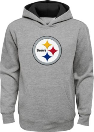 950c226a3 NFL Team Apparel Youth Pittsburgh Steelers Prime Grey Pullover Hoodie