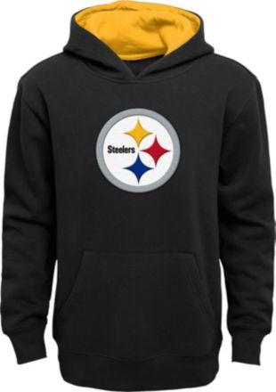 432bb0a3f NFL Team Apparel Youth Pittsburgh Steelers Prime Black Pullover Hoodie