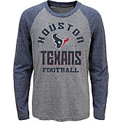 NFL Team Apparel Youth Houston Texans Gridiron Grey Long Sleeve Shirt