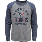 NFL Team Apparel Youth Houston Texans Gridiron Grey Long Sleeve Shirt